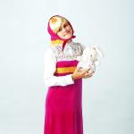 Русский сарафан розовый