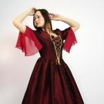 Платье 18 век бордо