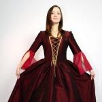 Платье 18 век (бордо)