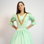 Платье 18 век зеленое