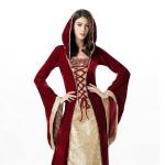 Средневековое платье красное