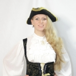 Пиратка с вышивкой (брючная)