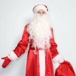 Дед Мороз крепсатин красный