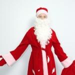 Дед Мороз бархат красный