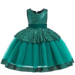 Бальное платье зеленое